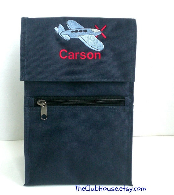 Insulated Baby Bottle Bag Personalized and Airplane Embroidery Great for Babies On The Go