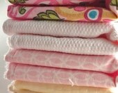 Set of Retro Pink Washcloth/Wipes