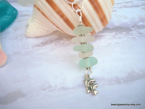 Seaglass Beach Glass Necklace Multi Colored FREE Shipping