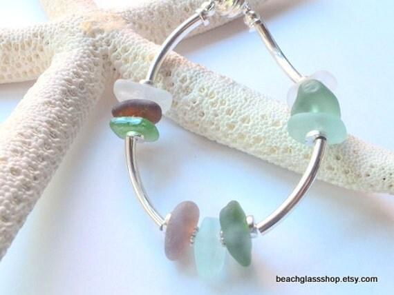 Sea Glass Beach Glass Bracelet Lake Erie Gift for Her