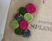The 8 rosette MADE to order blog or business name bag