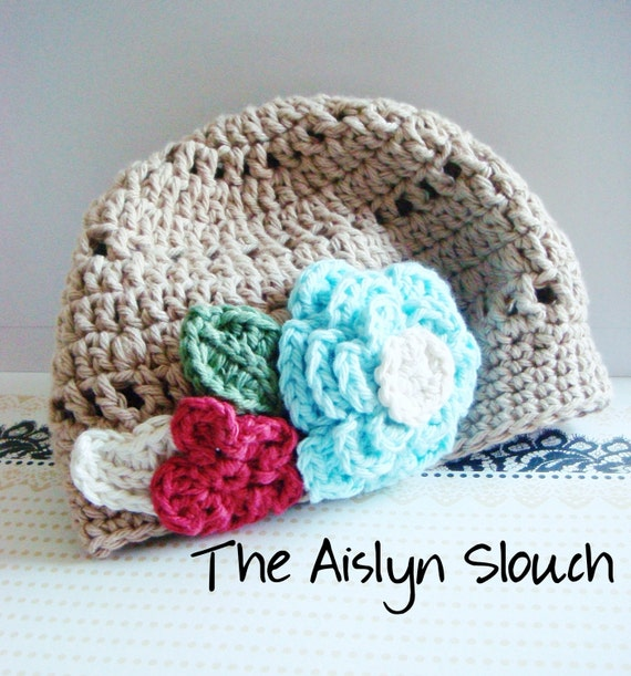 The Aislyn Slouch hat - 3-6 months