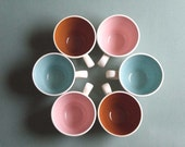 FREE SHIPPING Set of Six Vintage Chic Coffee Cups