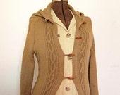 Womens Vintage Woodland Hazelnut Sweater Duster size Small