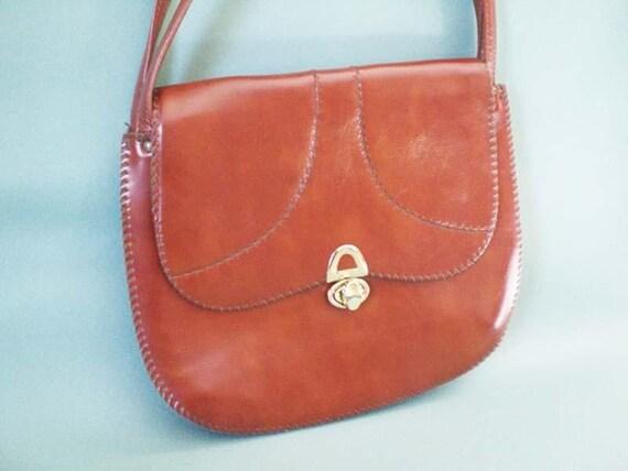 Brown Vintage Purse Faux Brown Leather