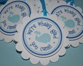 12 Whale Party Favor Tags - Baby Shower or Birthday