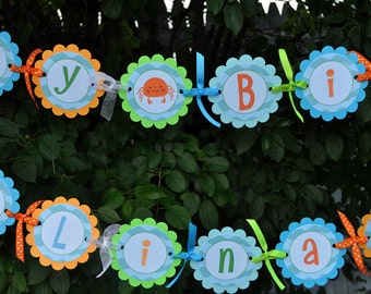 Under The Sea Banner - Pool Party Decorations - Birthday Banner - Mermaids and Sea Creatures