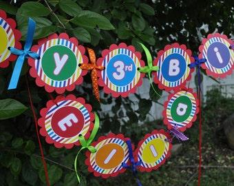 Rainbow Birthday Banner - Rainbow Birthday Party Decorations - Party Banner - 1st Birthday Banner