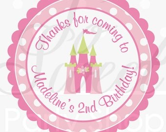 Princess Birthday Sticker Labels - Princess Party Decorations - Party Favors, Thank Yous, Envelope Seals, Party Decorations - Set of 24