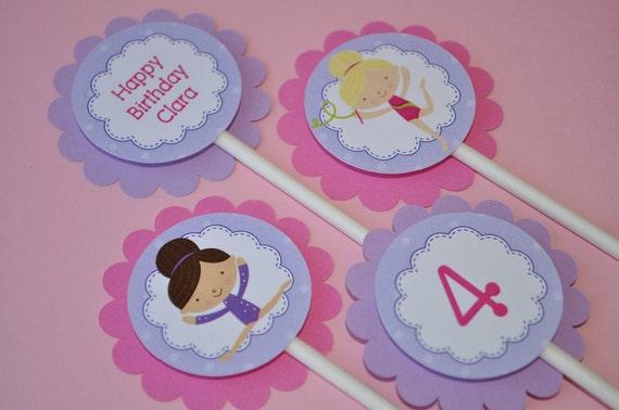 Girls Birthday Cupcake Toppers