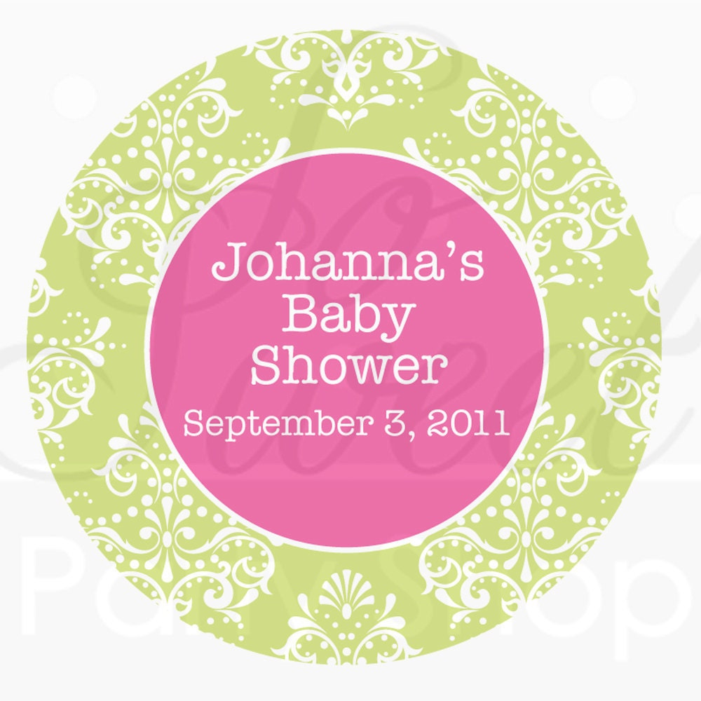 Baby Shower Stickers For Favors: Girls Baby Shower Favor Sticker Labels Baby Shower Favors