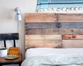 RESERVED -- Reclaimed Wood Twin Headboard and Footboard Made to Order