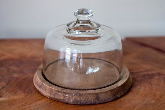 Vintage Glass Cloche Display Dome