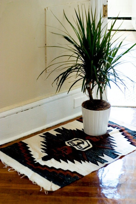 Woven Area Rug Southwestern Patterned Mat