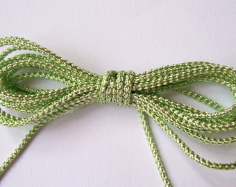 Pastel Green and Silver Cord