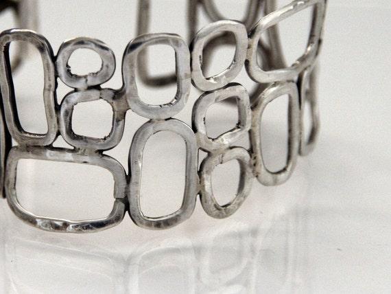 Squares- 925 sterling silver bracelet