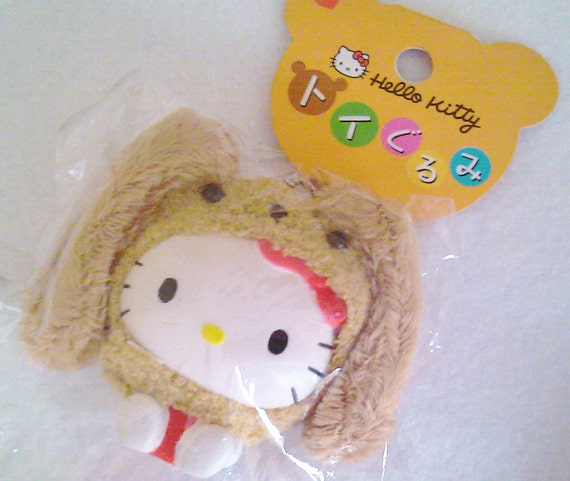 Squishy Sanrio Rare : Items similar to RARE Sanrio Hello Kitty Puppy Costume Squishy Keychain on Etsy