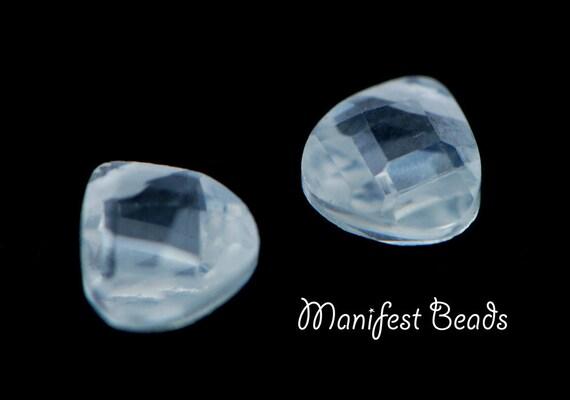 STORE CLOSING 30 pcs Cubic Zirconia Crystal faceted tear drops 6mm
