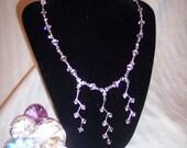 Pink Titania Fairy Necklace