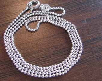 Sterling Silver Ball Chain Only