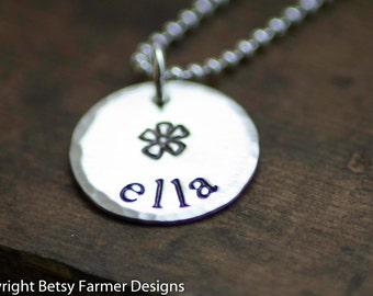 Flower Girl Necklace - Personalized Sterling Silver Necklace - Bridesmaids Gift