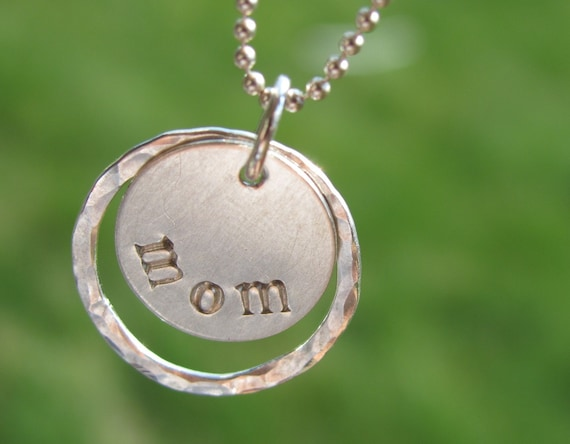 Mom Jewelry - Hand Stamped Jewelry - Mom Sterling Silver Necklace - Christmas Gift Present - Simple Jewelry Design