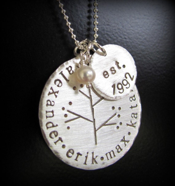 Hand stamped jewelry personalized necklace by for How do you make hand stamped jewelry