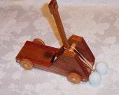 WOOD CATAPULT on wheels
