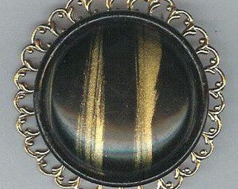 Stacked Pin with early 1900s Celluloid Button