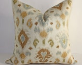 Reserved for Amanda    Two 12x18 Ikat Pillow Covers in Neutral Colors
