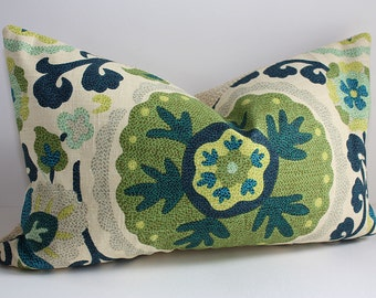 Bohemian Suzani Pillow Cover / 12x18 LUMBAR