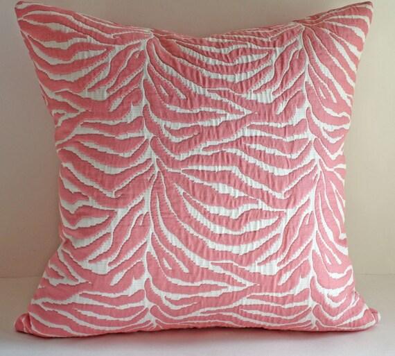 "SALE// Zebra Pillow Cover/ 18""x18"" / Animal Print in Pretty in Pink"