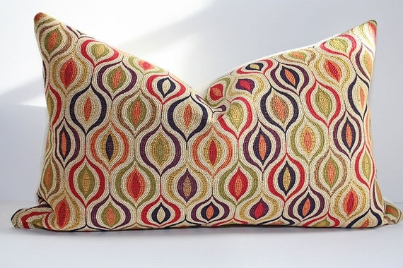 Kravet Couture Turkish Ogee Pillow Cover / 12x20 Lumbar / Same Fabric on Both Sides
