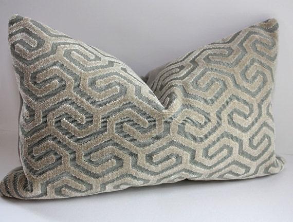 Luxurious Geometric Pillow Cover / 12x20 Lumbar / Art Deco Style