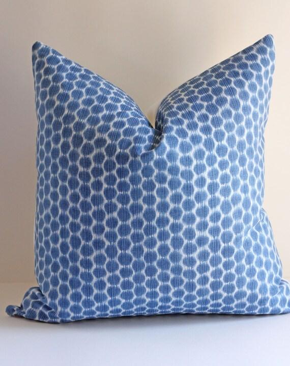 Reserved for Shannan Ohlson / Three 18x18 Kravet Ikat Polka Dot Pillow Covers