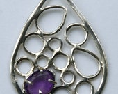 Exclusive Water Drop Pendant with Brilliant Prong Set Amethyst