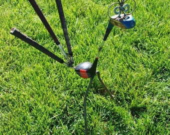Golf Driver Bird, Recycled garden sculpture