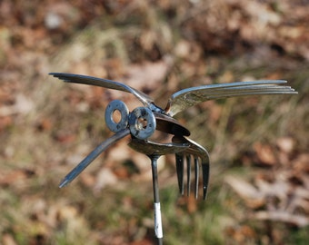 Spoon / fork Hummingbird Recycled Yard Art