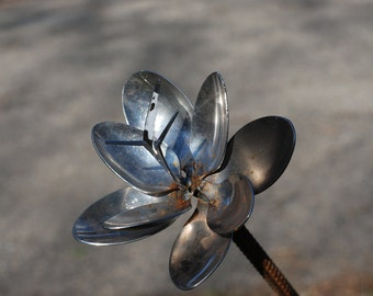 Spoon Flower Recycled Garden Yard Art Sculpture
