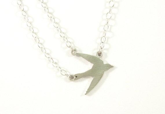 Small Single Bird Necklace