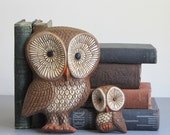 vintage owl wall hangings