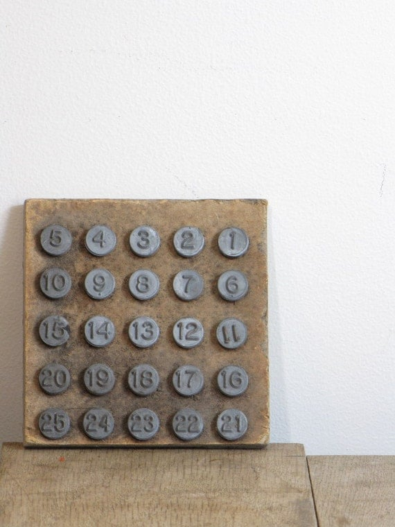 vintage set of number tacks