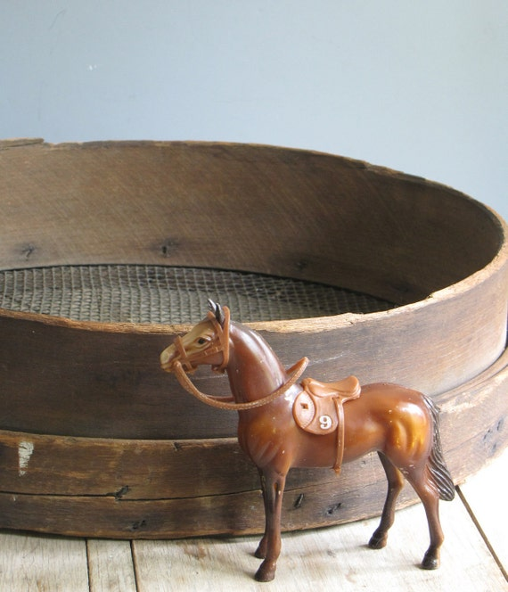 antique primitive wooden sifter