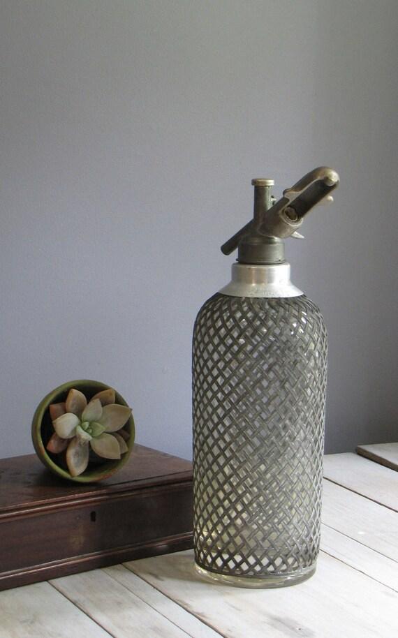vintage seltzer bottle - czechoslovakia