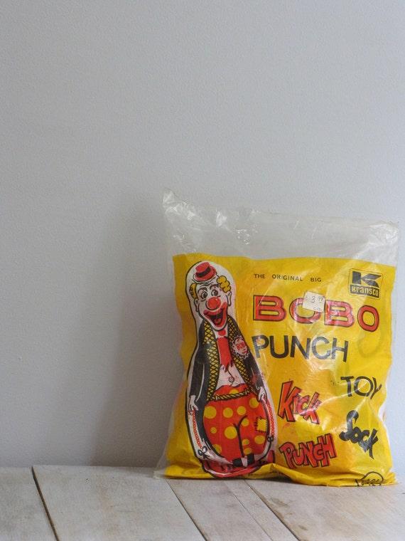 vintage bobo the clown punching bag
