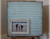 16x16 Personalized Photo Frame/Plaque-Fathers Day-Dad-Quote