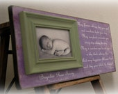 Baby Picture Frame Personalized Custom Picture Frames 8x20 IRISH BLESSING Shower Baptism Christening First Birthday Gift Godparents
