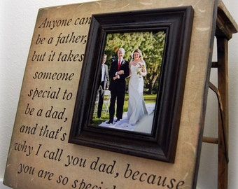 Father of the Bride Custom Wedding Gift Personalized Picture Frame 16x16 SPECIAL to BE DAD Daddy Men Mother Parents of Quote Verse Song Vows