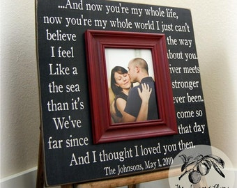 Frame Personalized Picture Frame 16x16 YOU're My WHOLE LIFE Anniversary Love Father Mother Parents Song Vows The Sugared Plums