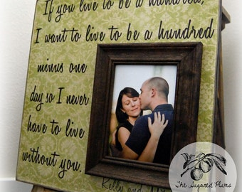 Picture Frame Personalized Picture Frames 16x16 If You Live To Be A Hundred Wedding Aniversary Love Gift Winnie The Pooh